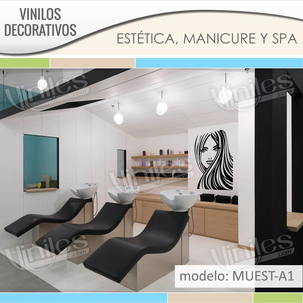 Vinilos stickers decorativos para esteticas pared for Stickers decorativos de pared