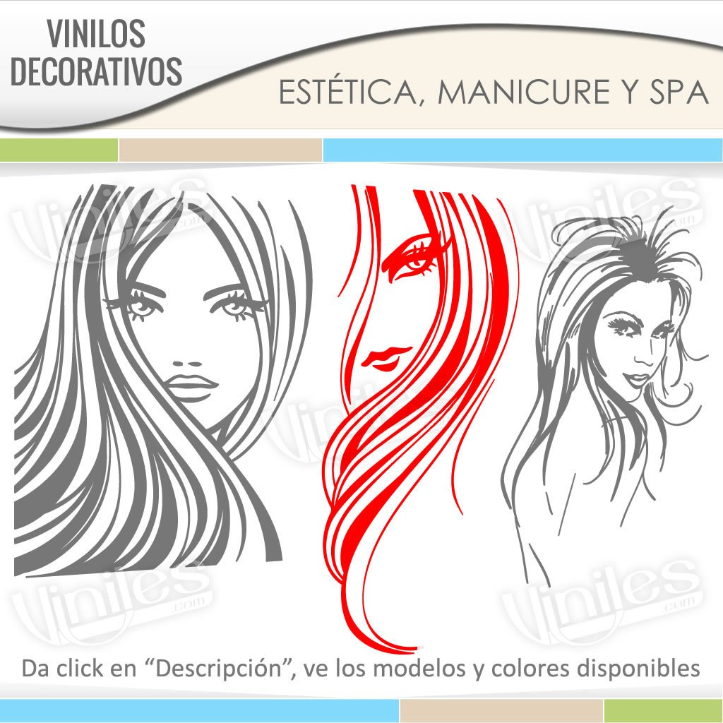 Vinilos stickers decorativos para esteticas pared for Vinilos para mesas de cristal