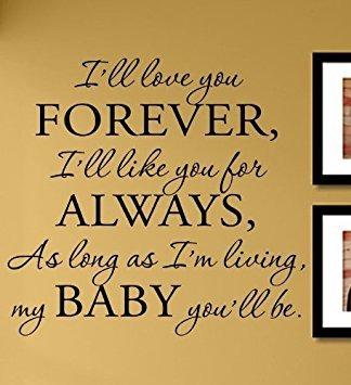 vinilos y murales, yo te amo para siempre, te gusta para..