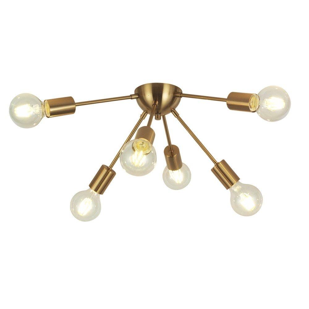 vinluz 6 lámpara sputnik de luz de latón lámpara de techo m
