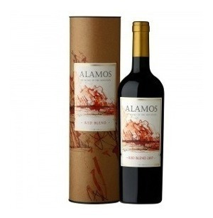 vino alamos red blend estuche cilindrico x 1 x 750 ml.