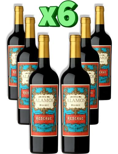 vino alamos reserva malbec reserve caja x 6 - celler