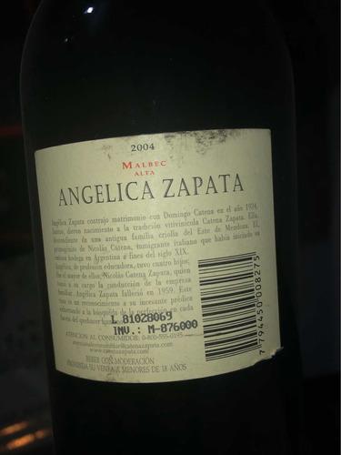vino angelica zapata malbec alta 2005 excelente añada