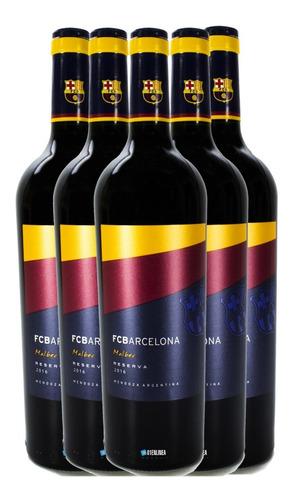 vino barcelona reserva 2016 malbec pack x6 botellas 750 ml