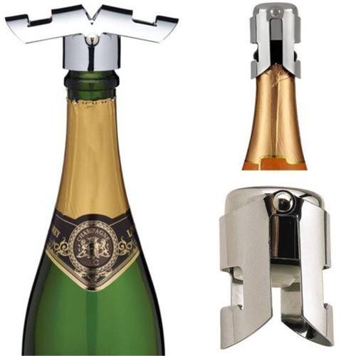 vino de acero inoxidable champagne tapón de l + envio gratis