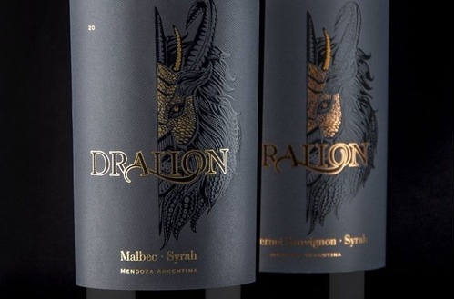 vino dralion malbec syrah 750ml blend tinto estancia mendoza