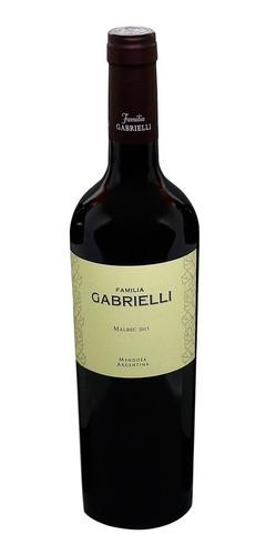 vino familia gabrielli malbec 2015 - caja x 6u. 750 e/gratis