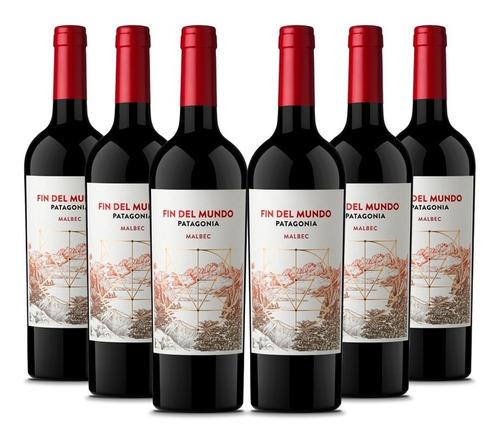 vino fin del mundo patagonia red blend pack x 6 unidades