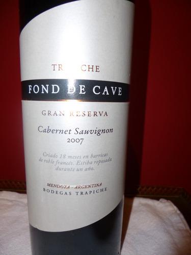 vino fond de cave gran reserva cab sauvignon 2007