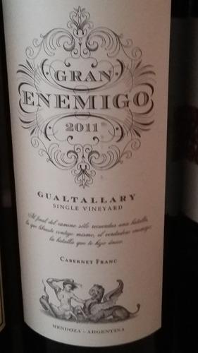 vino gran enemigo cabernet franc 2012 gualtallary