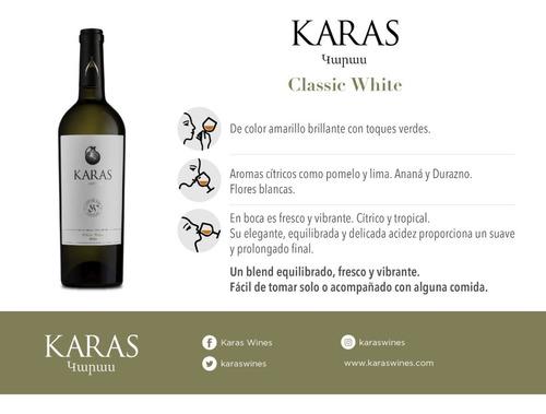 vino karas classic white blend pack x 6 unidades con cuotas