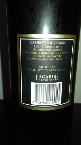 vino lagarde cabernet sauvignon 2001