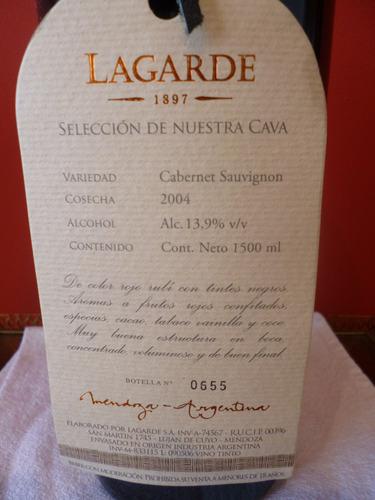 vino lagarde magnum cab sauvignon 2004 (1,5 l)