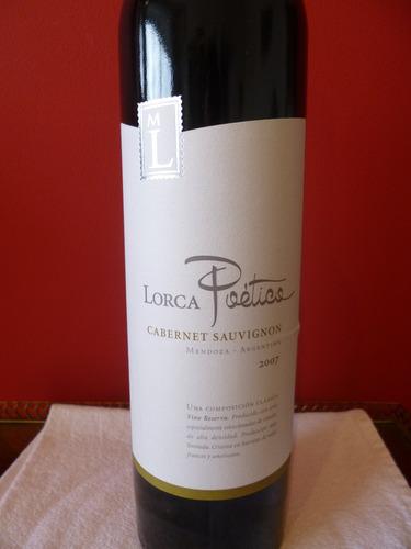 vino lorca poético cabernet sauvignon 2007