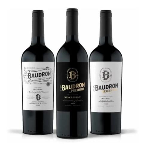 vino malbec premium - bodega baudron