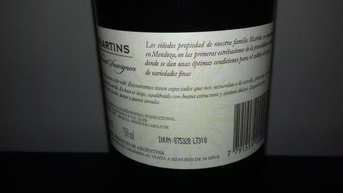 vino martins cabernet sauvignon roble 2005