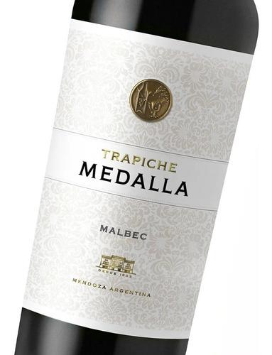 vino medalla trapiche malbec tinto botella 750ml caja x6