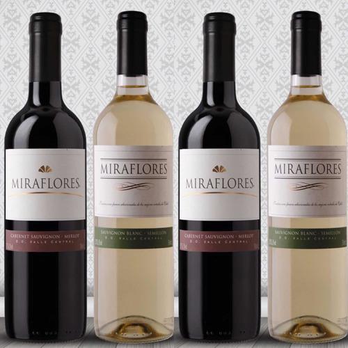 vino miraflores 750 ml 12 unidades