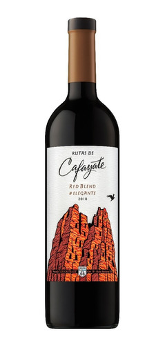 vino rutas de cafayate elegante red blend botella de 750 ml