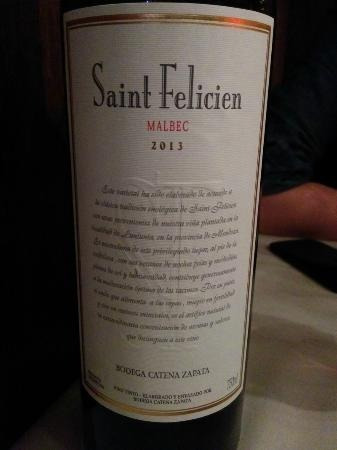 vino saint felicien malbec catena zapata caja x6 unidades