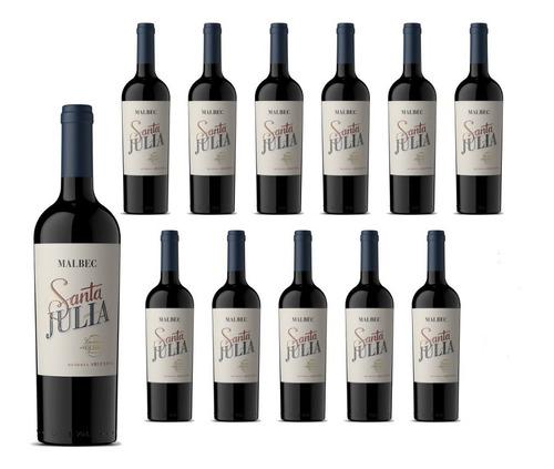 vino santa julia malbec x 750cc. 12 botellas envio gratis!!!