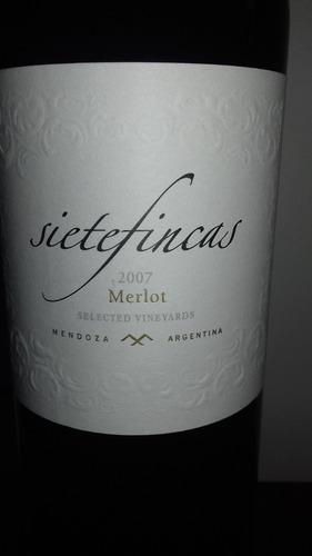 vino siete (7) fincas merlot 2007 selected vineyard