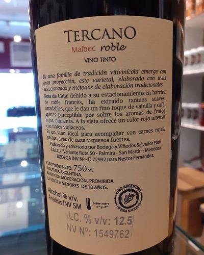 vino tercano malbec roble - bodega salvador patti