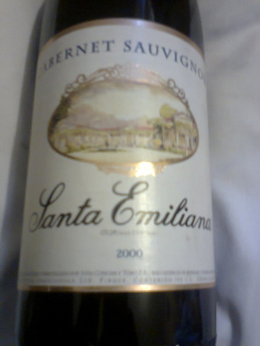 vino tinto, cabernet sauvignon; santa emiliana; c. 2000