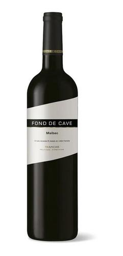 vino tinto fond de cave malbec 100% trapiche 750cc caja x6