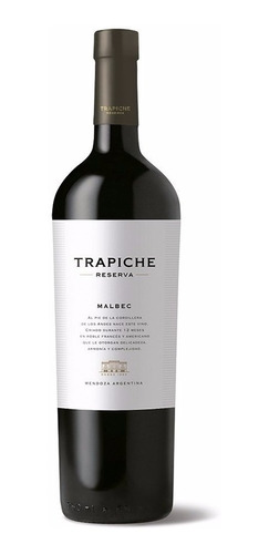 vino trapiche reserva malbec 750 ml