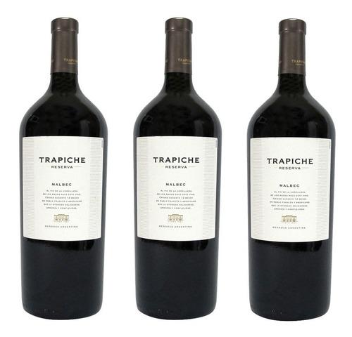 vino trapiche reserva malbec 750ml villa pueyrredon