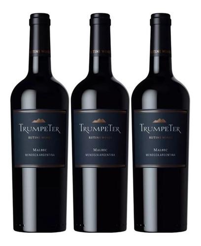 vino trumpeter malbec  750cc  x 3 botellas
