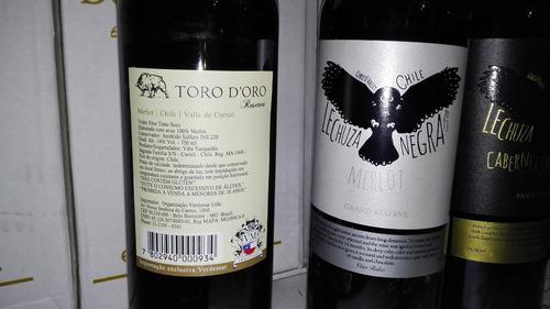 vinos exportacion por caja bot de 750 ml.