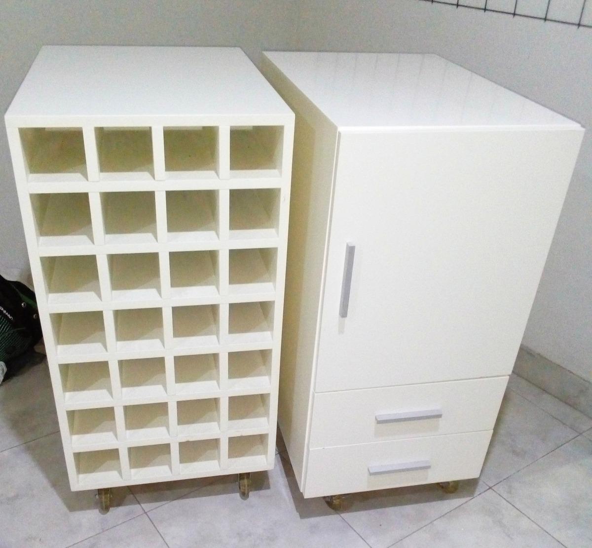 Vinoteca + Organizador Mueble Cocina, Laqueados. Precio Unid - $ 5.000,00