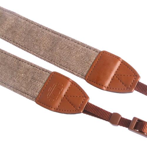 vintage blanco marrón tejer cuello correa canon powershot sx