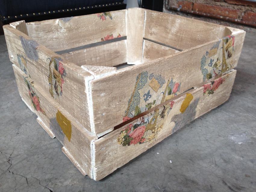 Vintage cajas de madera decoradas a mano diferentes - Cajas decoradas a mano ...