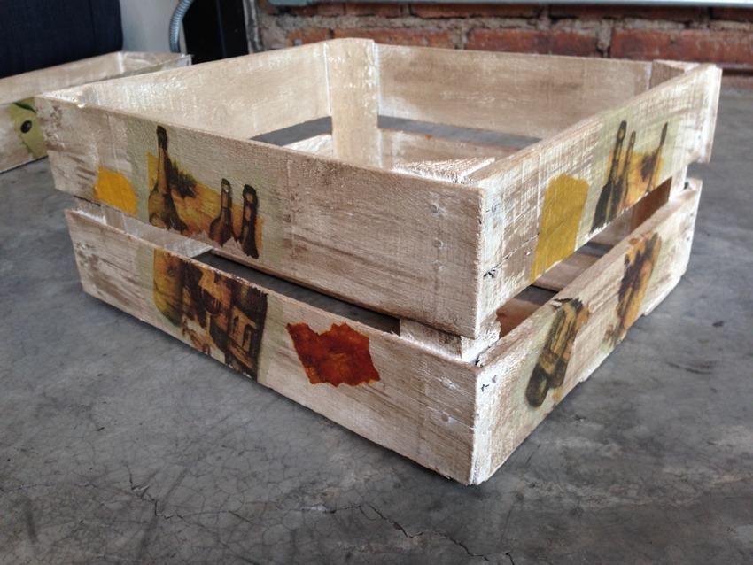 Vintage Cajas De Madera Decoradas A Mano Diferentes Motivos