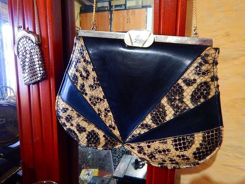 vintage cartera femenina cuero serpiente - dec.70