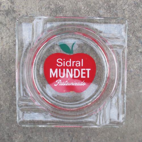 vintage cenicero de sidral en vidrio de la decada de los 70s