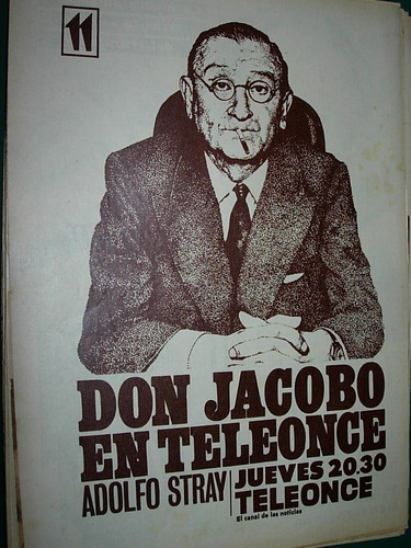 vintage clipping don jacobo adolfo stray canal teleonce tv
