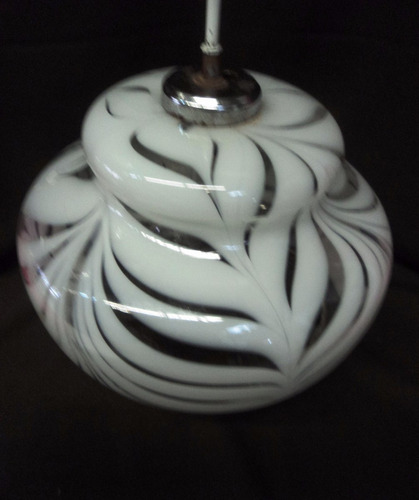 vintage colgante araña cristal murano atigrado 2 luces (23b)