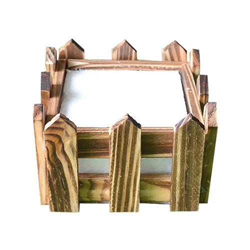 vintage de madera de la flor de la valla de almacenamiento p
