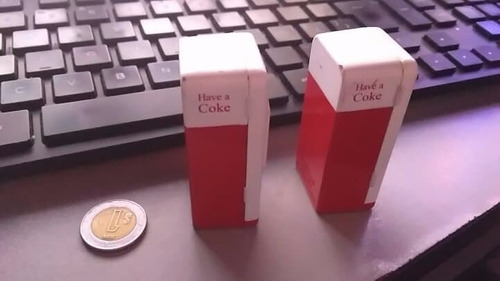 vintage ertl miniature coca-cola coke 2 vending machine lot