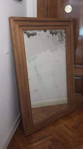 vintage! espejo grande de pie de cedro