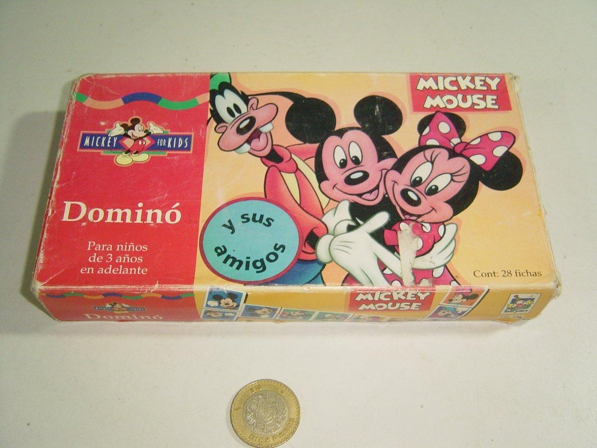 Vintage Juego De Mesa Dominó Mickey Mouse Y Sus Amigos Birja