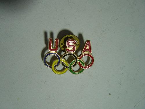 vintage pin de los aros olímpicos estados unidos