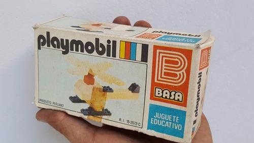 vintage playmobil de basa playgo en caja