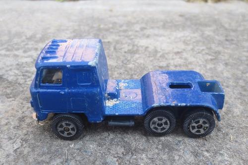 vintage raro trailer tractocamion chato 1/64 de coleccion