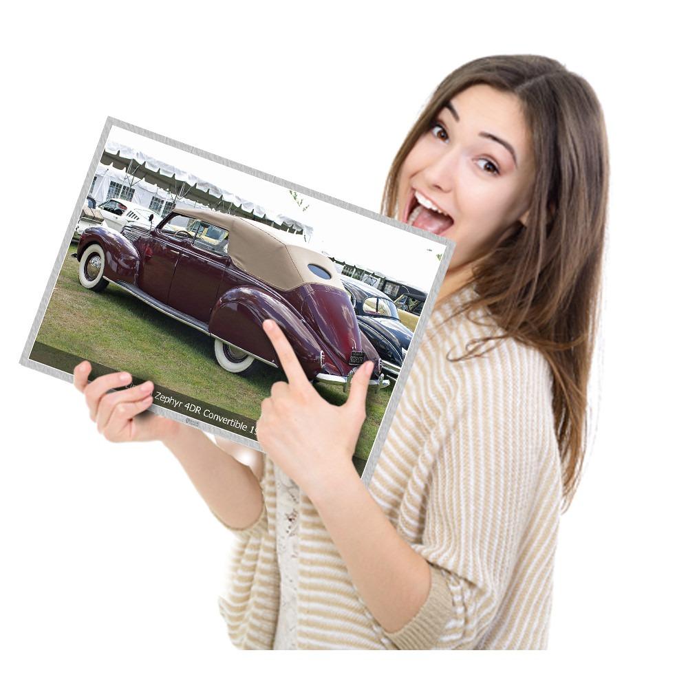 Vintage Retro Carro Antigo Lincoln Zephyr 4dr Tam A4 R 28 90