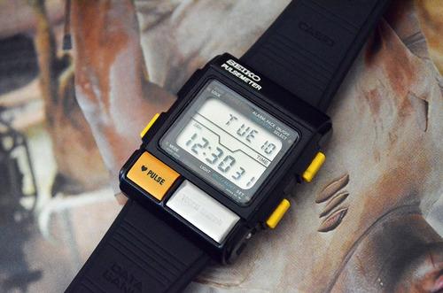 vintage seiko pulsometer - ref: s234-5010-  anos 80 - raro